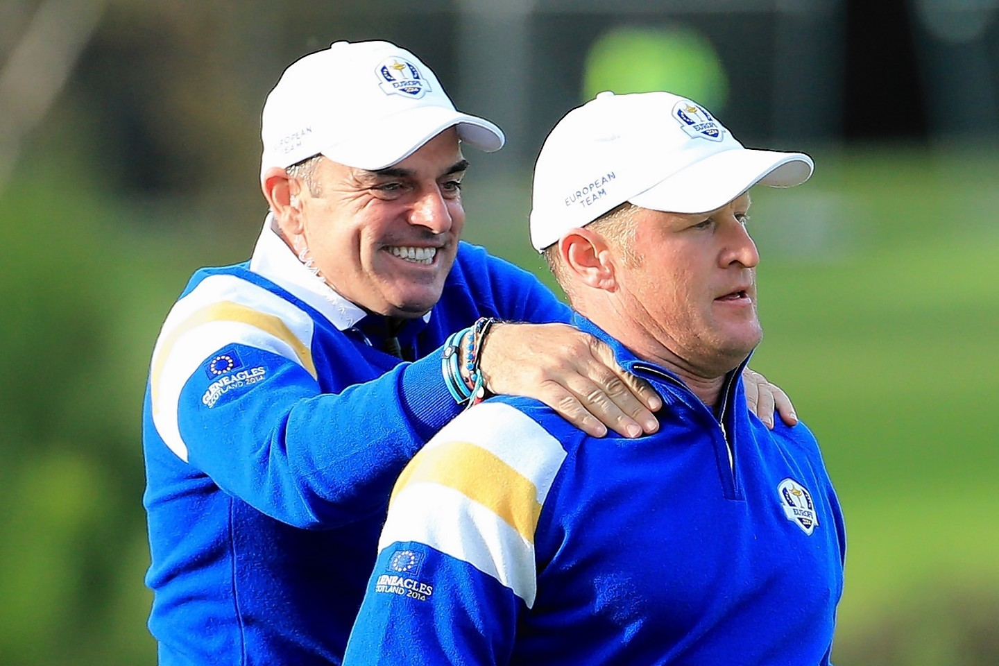 And he wasted no time - immediately rushing over to congratulate star man Jamie Donaldson
