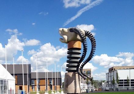 Loch Ness monster sculpture