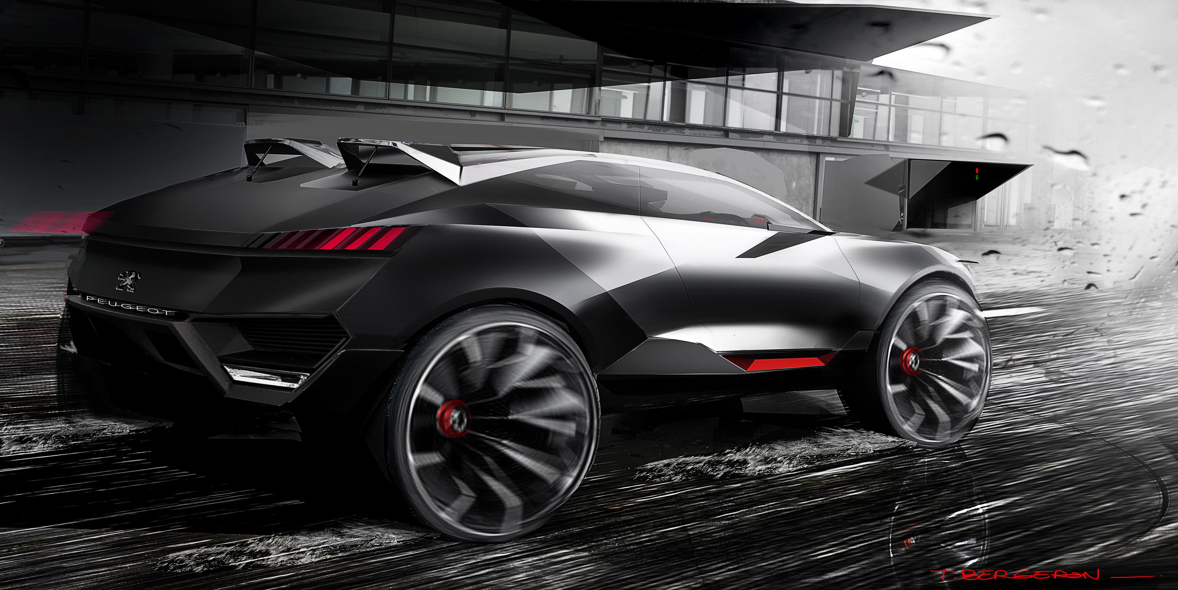 спортивный автомобиль peugeot concept sports car  № 959051 загрузить