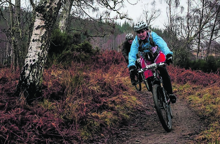 Deirdre Graham in action during the Strathpuffer cycle race