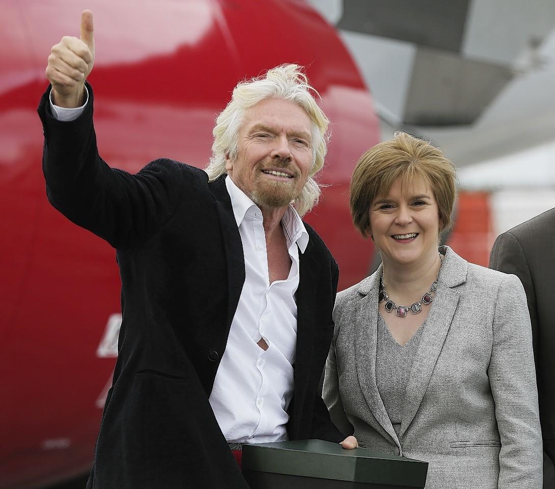 RIchard Branson and Nicola Sturgeon