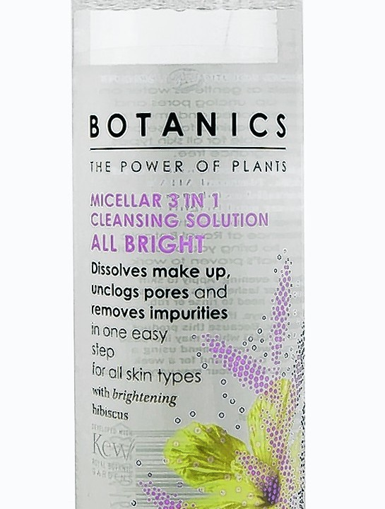 Botanics All Bright Micellar 3 in 1 Cleansing Solution, £4.49, Boots