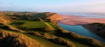 Scenic views of the Trump golfcourse
