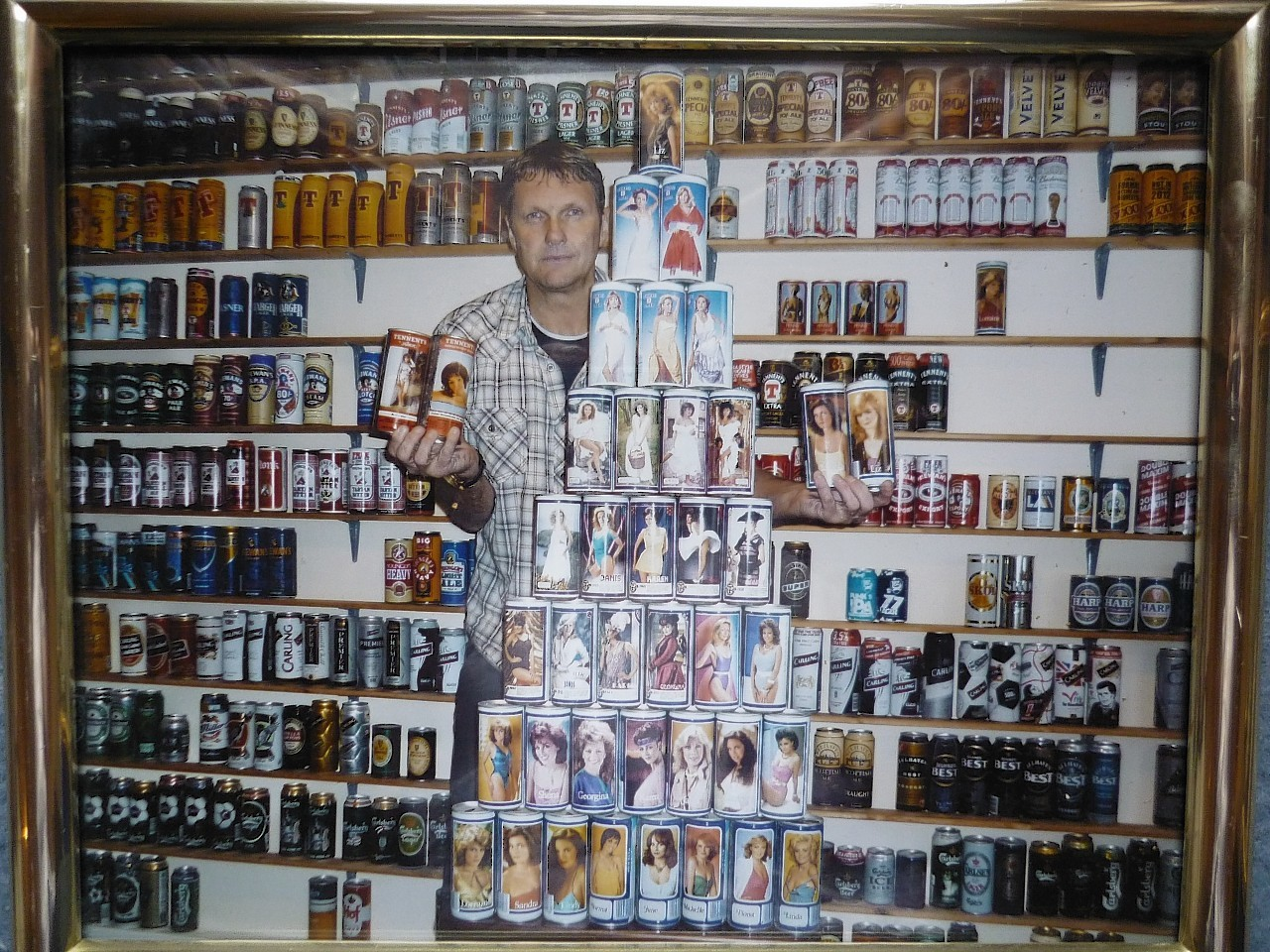 Alex Drummond with his beer car collection