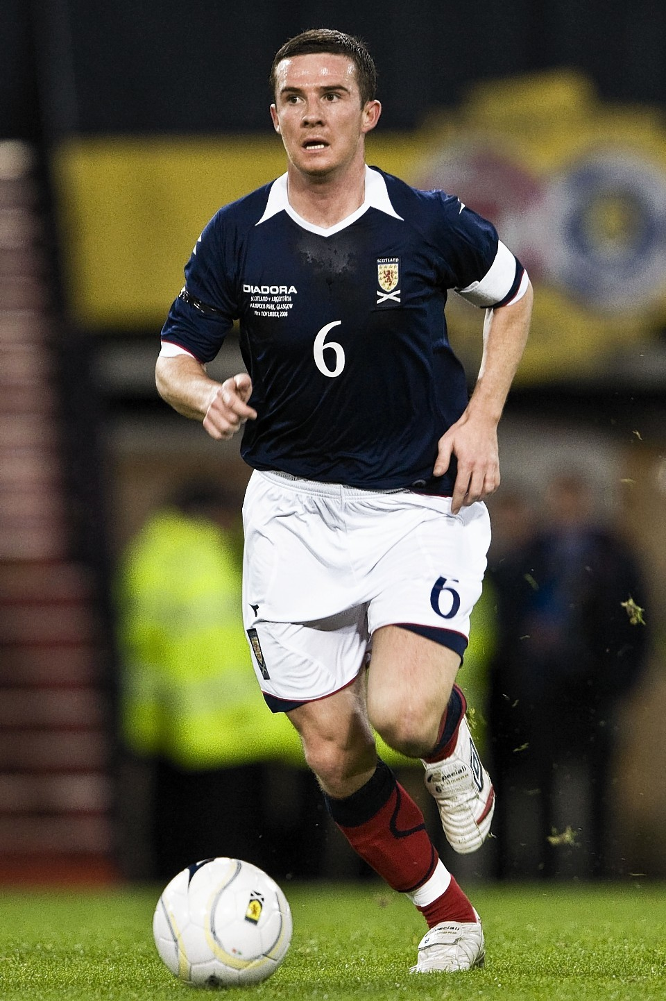 Ferguson captained Scotland until 2009