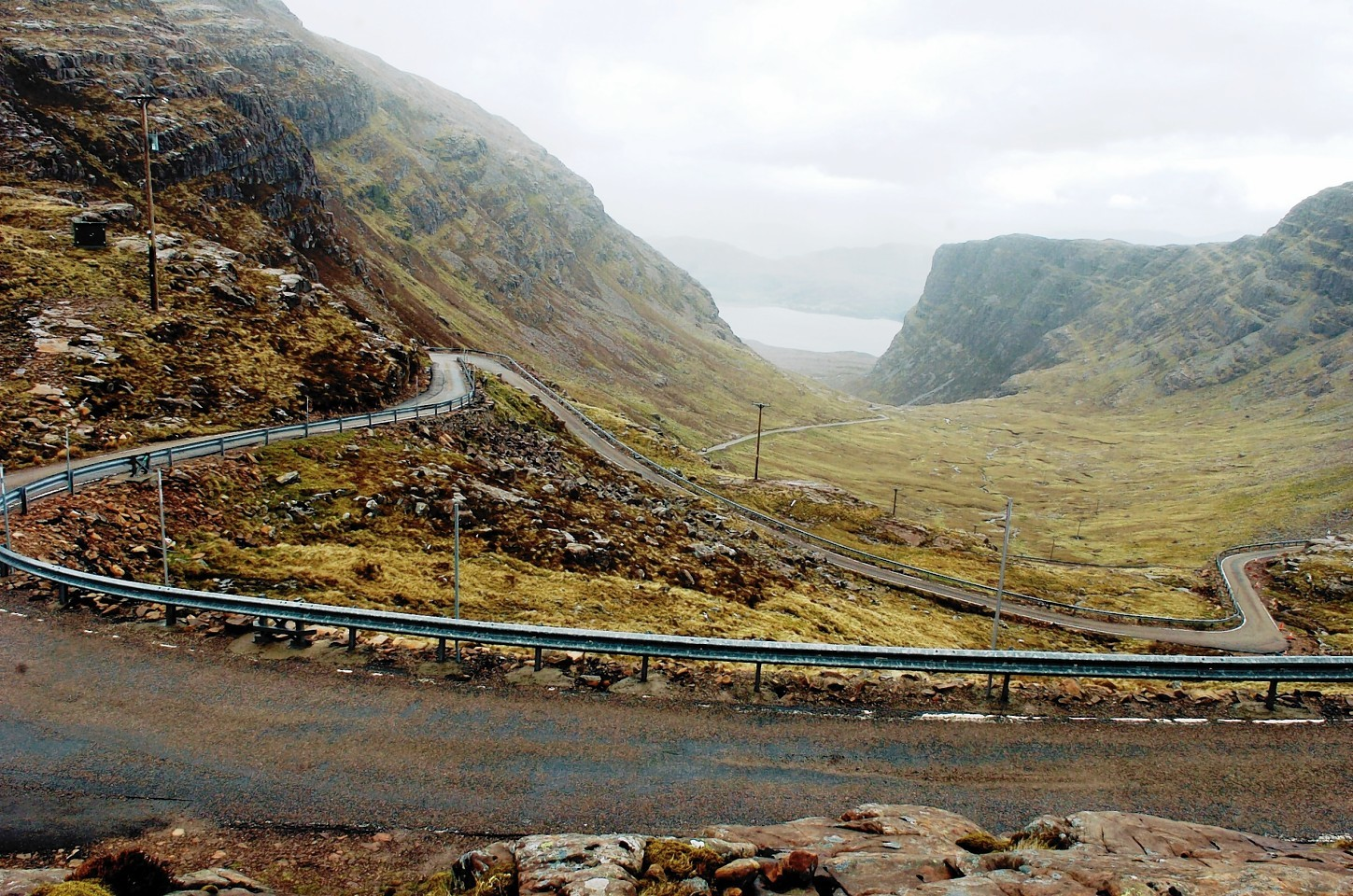 The NC500 follows the Bealach na Ba road to Applecross