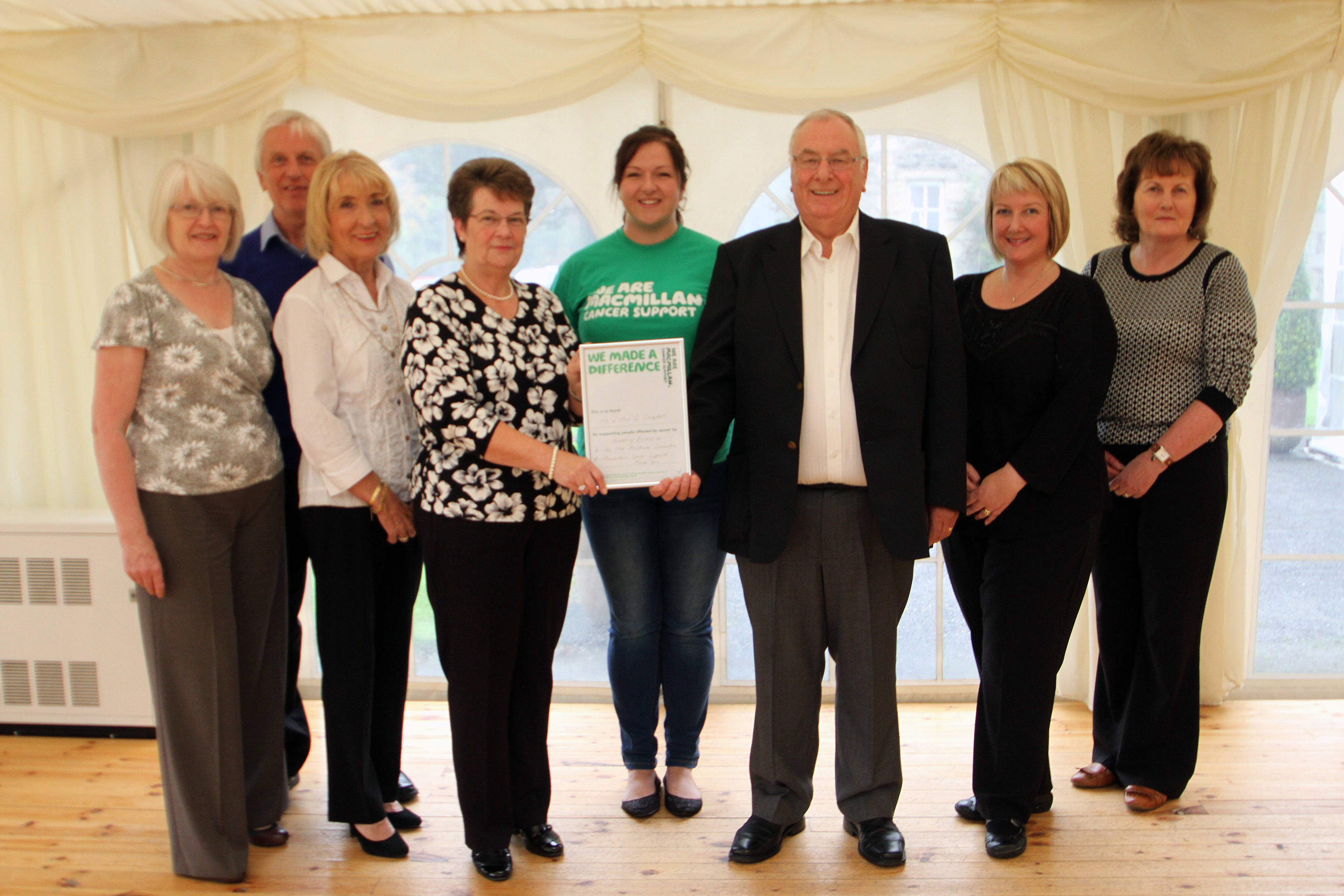 Meg and Gordon Campbell raised nearly £6,000 for Macmillan Cancer Support at their golden wedding anniversary party