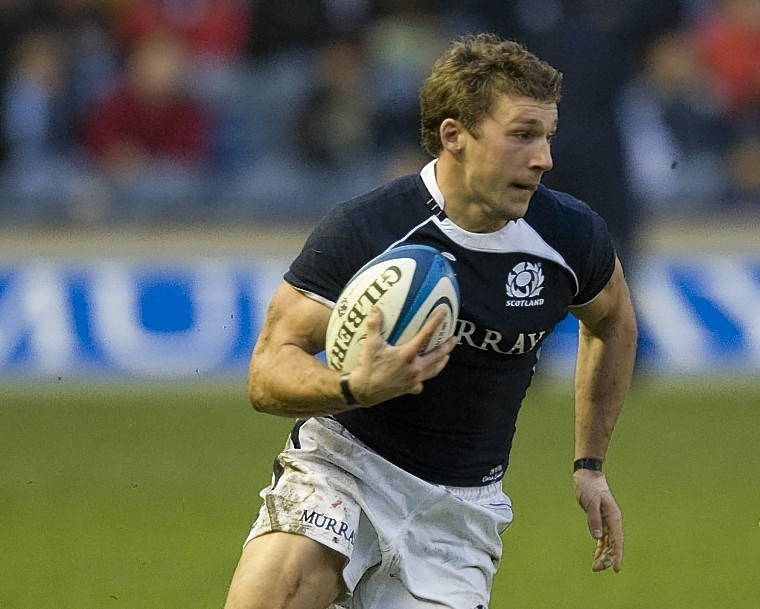 Chris Cusiter in action for Scotland