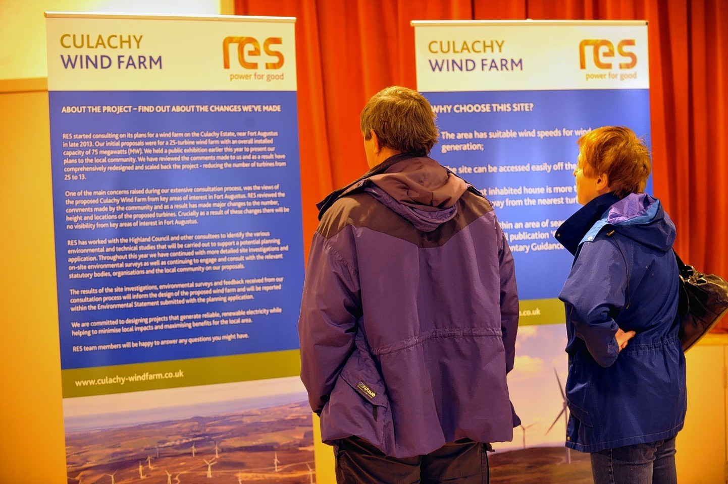 The Culachy windfarm exhibition