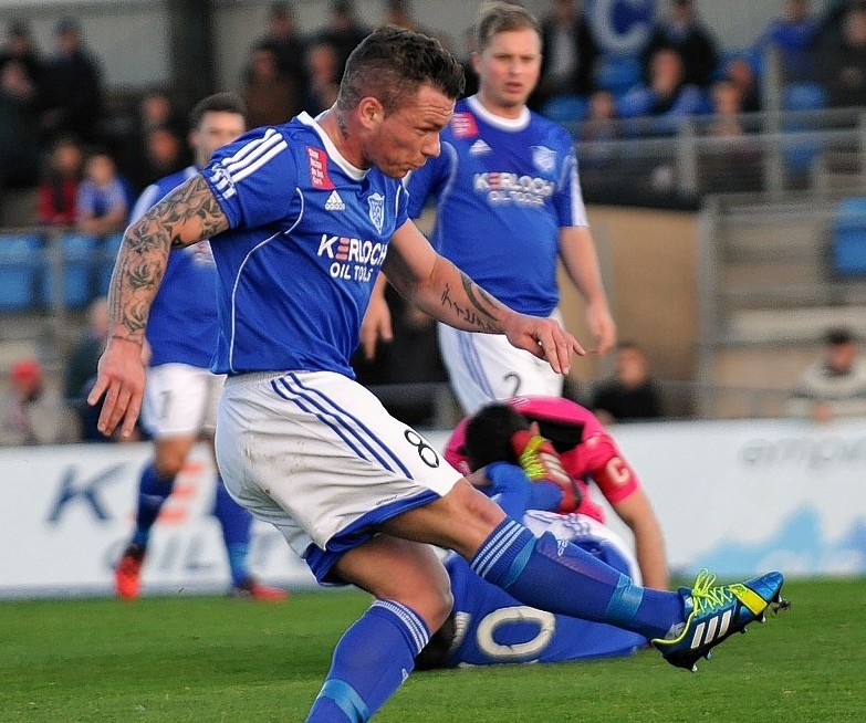 David Cox in action for Peterhead