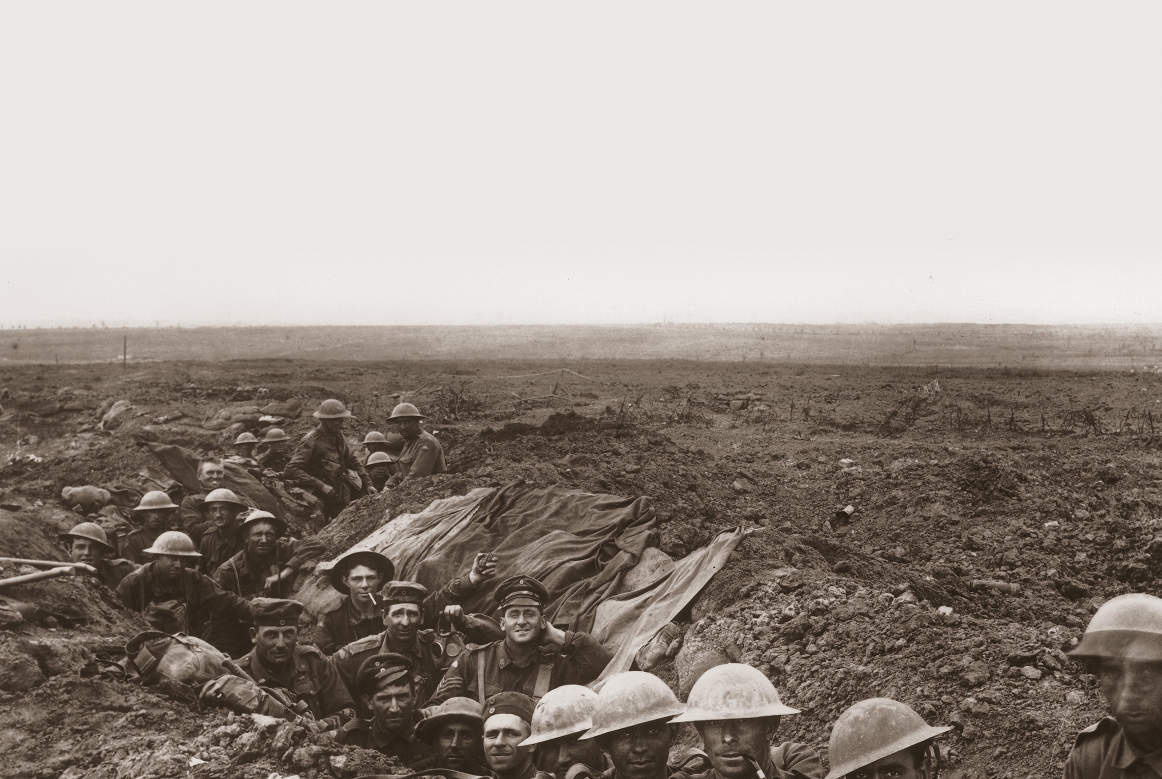 Photographs of the trenches from the In Flanders Fields