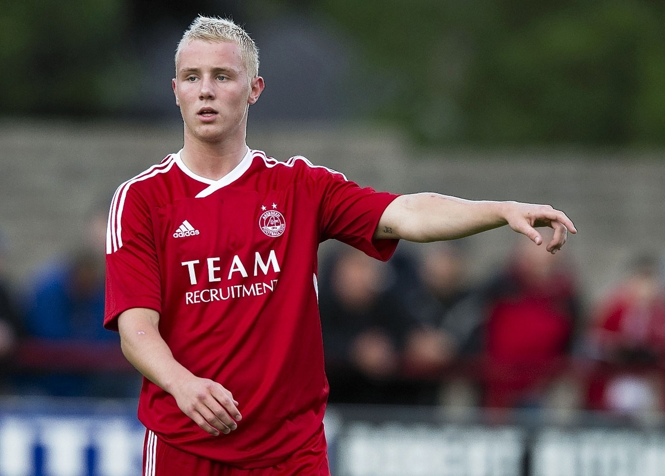 Jack Grimmer became Aberdeen's youngest ever first team player in 2010