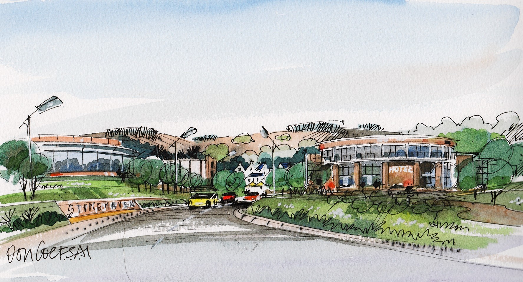 Artist impressions of Mill of Forest, Stonehaven
