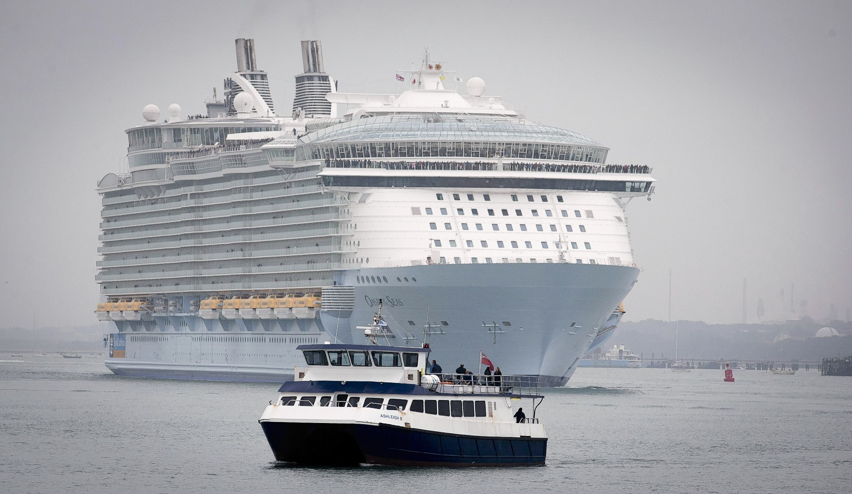 Largest Cruise Ship In The World Docks In Southampton  Press And Journal
