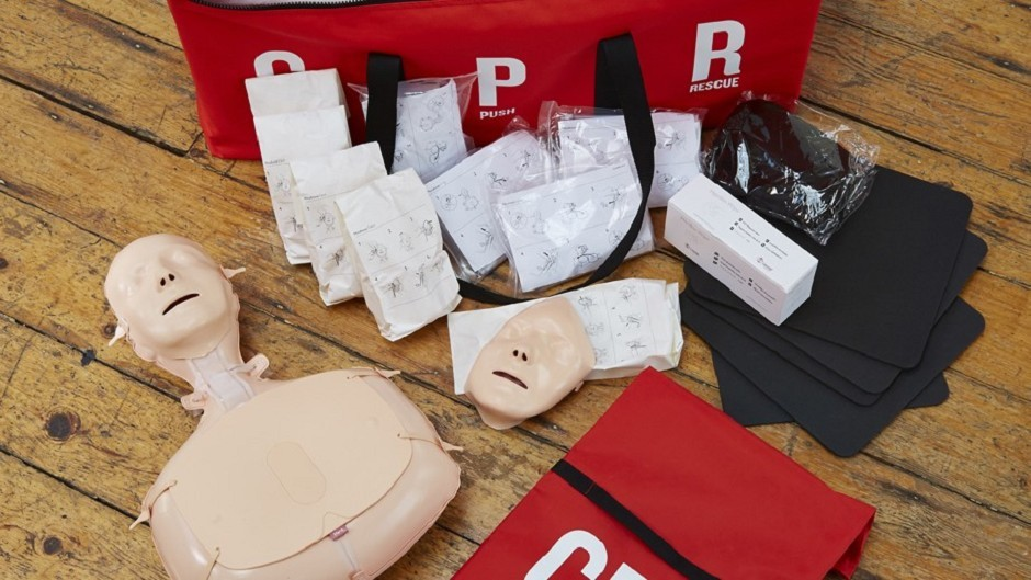 The British Heart Foundation's CPR training kit.