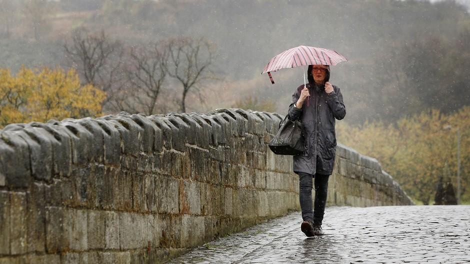 Heavy rain warning for Highlands