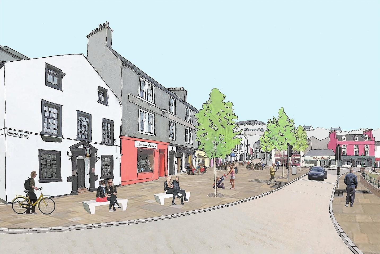Pedestrianised Stafford Street
