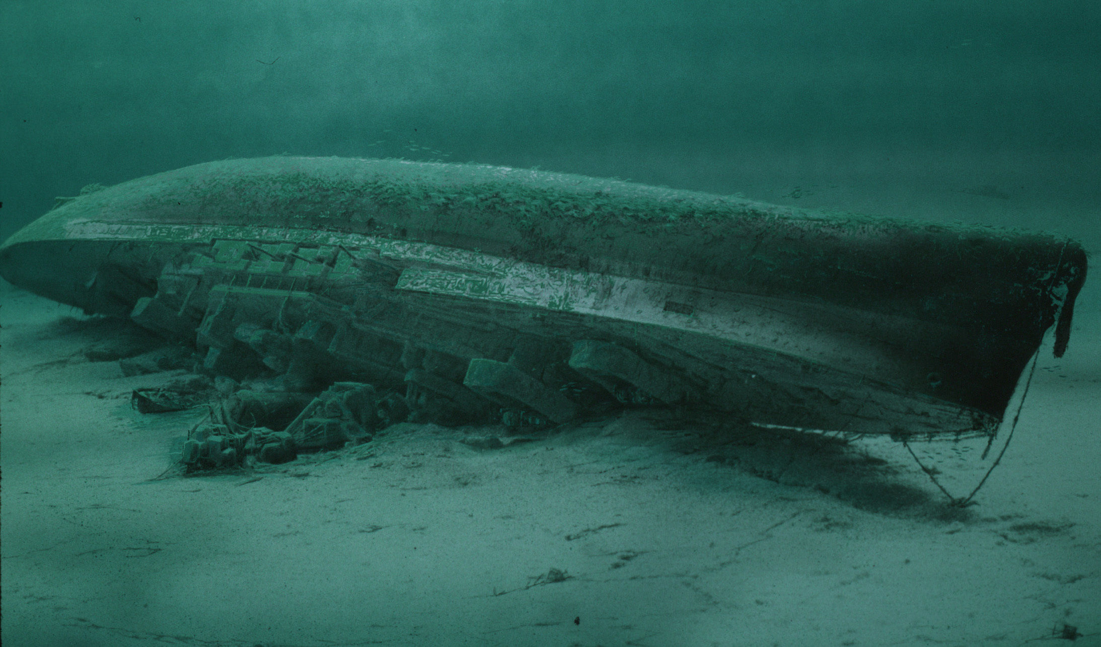 HMS Royal Oak on the Scapa Flow seabed
