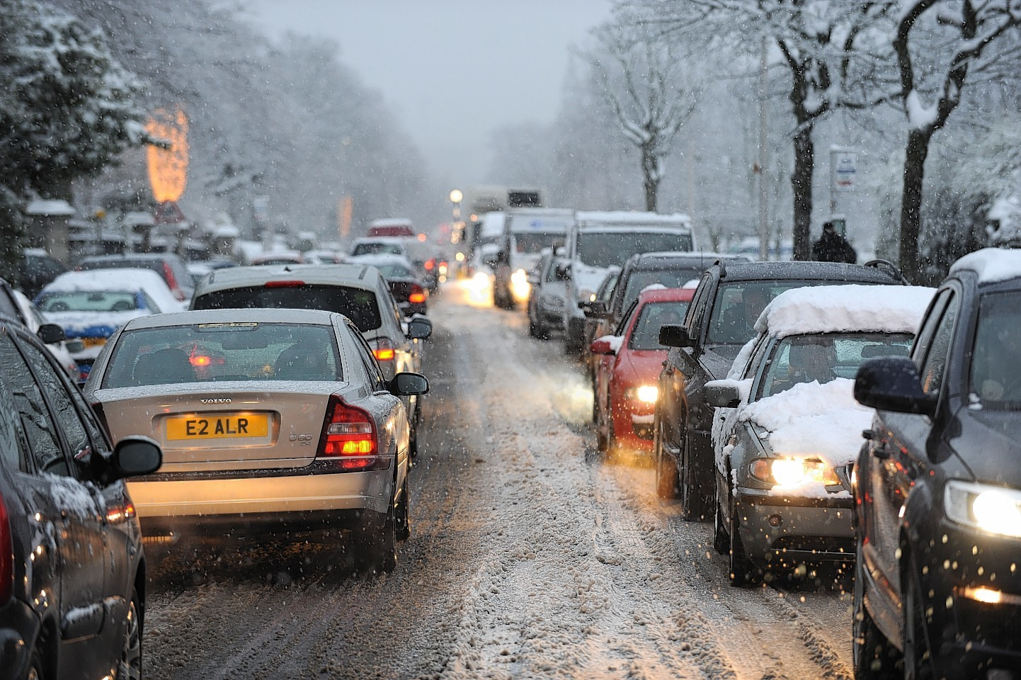 Police are warning drivers of the dangers of the winter weather