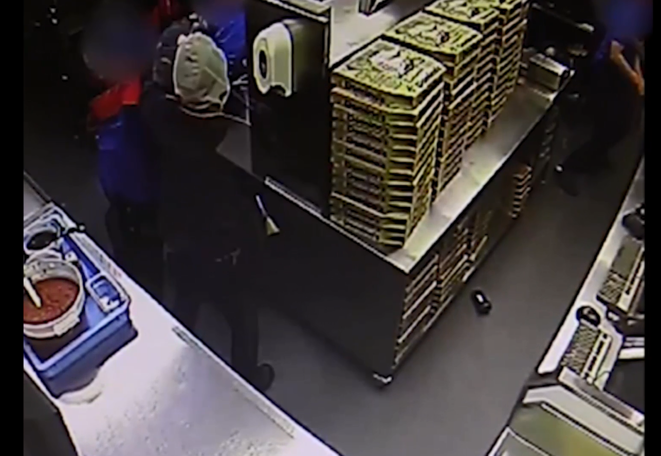 A Domino's shop was robbed at knifepoint last week