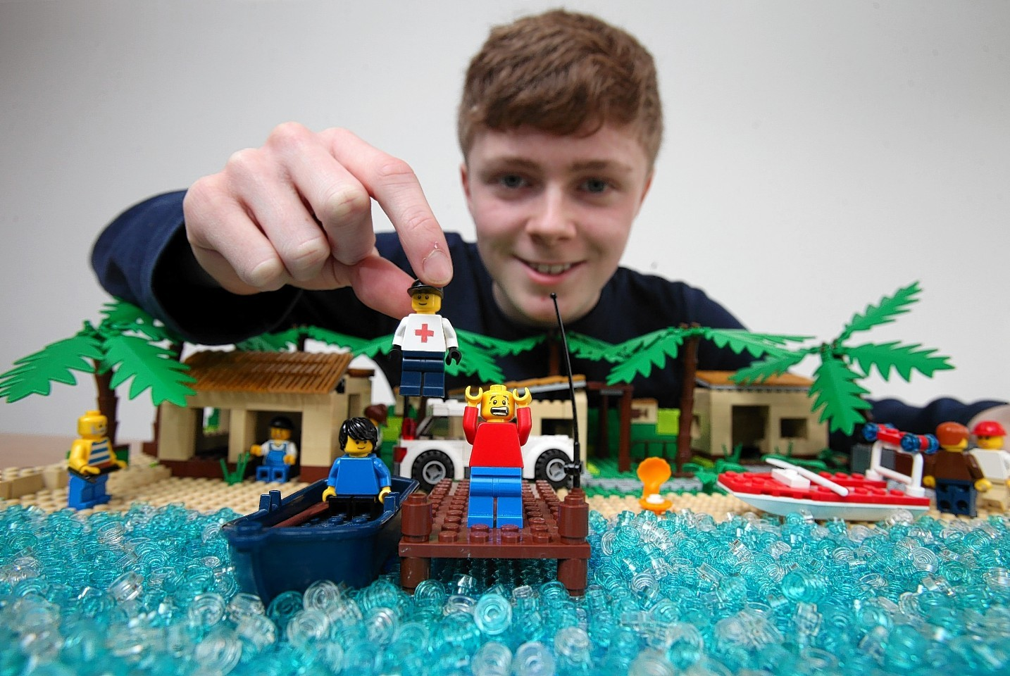 Morgan Spence, 15, from Kilbarchan, Renfrewshire, spent three weeks painstakingly putting together a LEGO stop-motion video of scenes from Hollywood classics