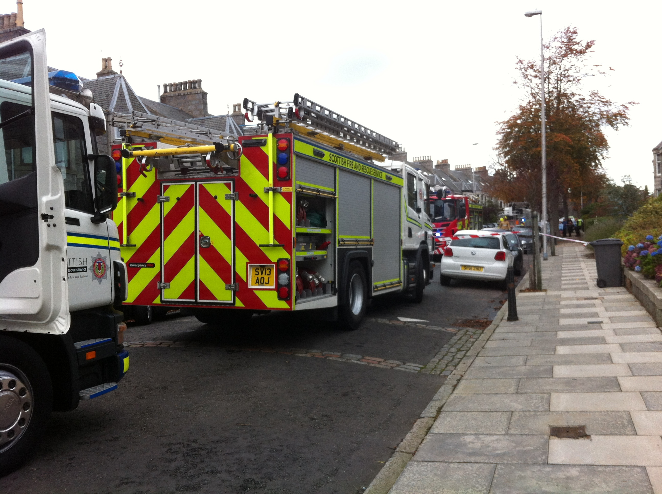 Fire crews on Gray Street in Aberdeen