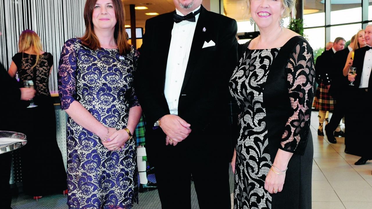 Susan Christie with Andrew and Debbie Thomson