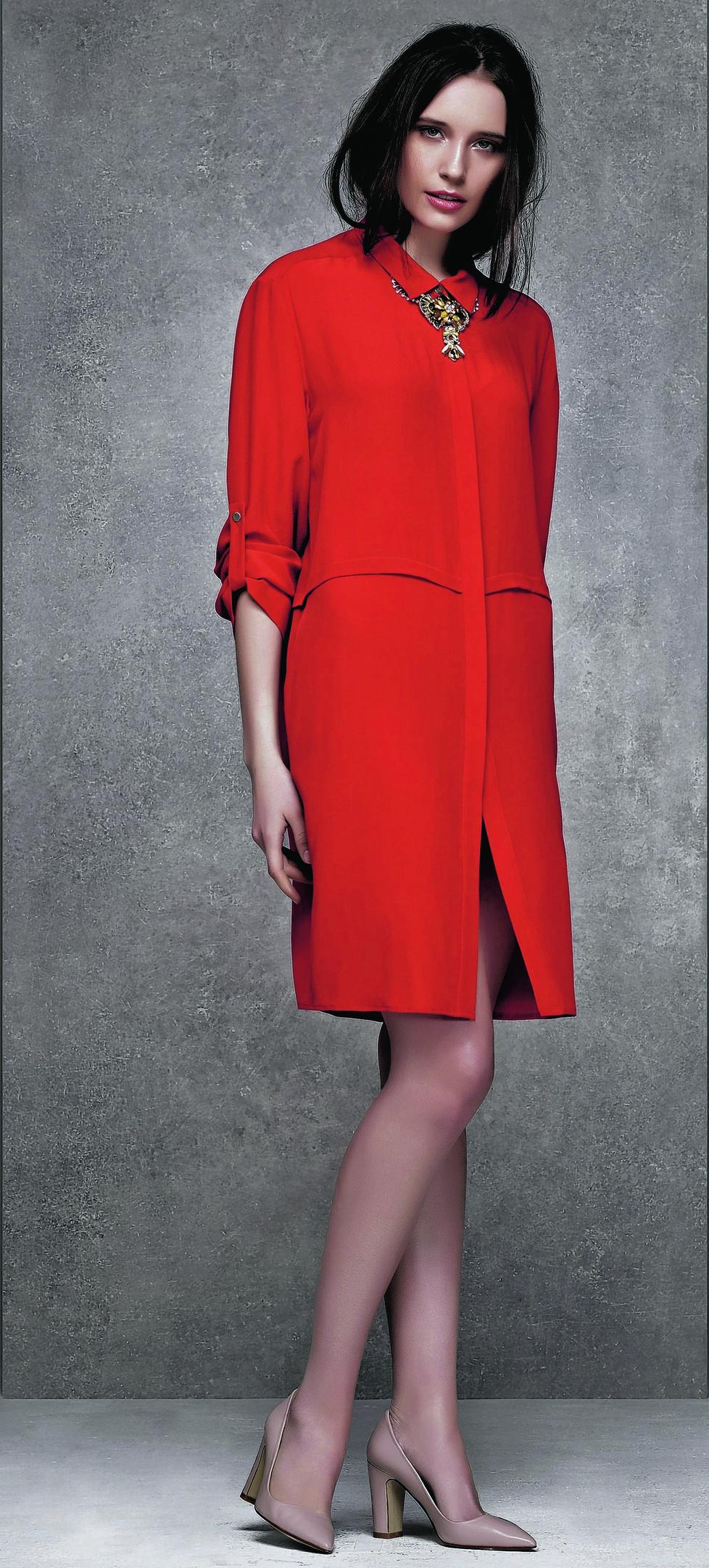 Red shirt dress, £65; Wallis