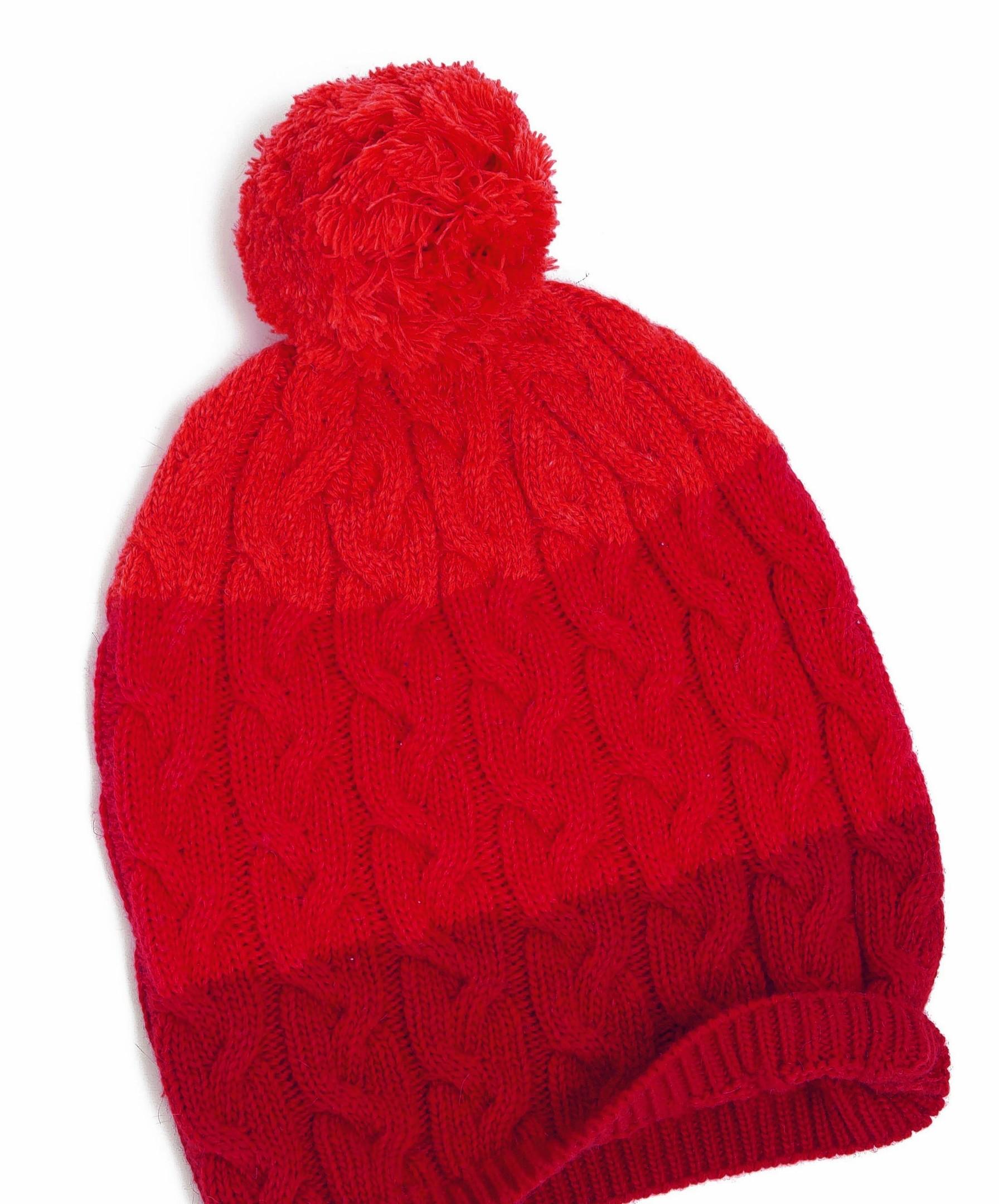 Yumi striped bobble hat, £14.99