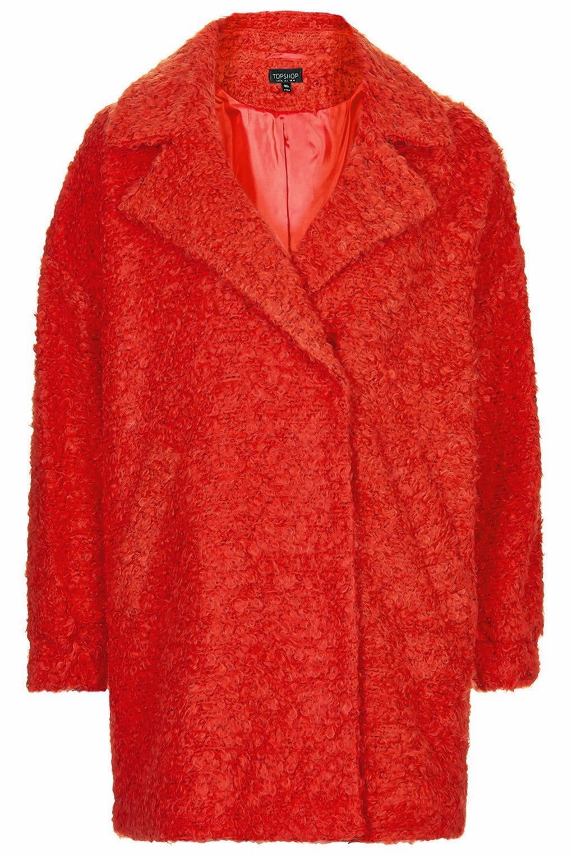 Topshop slouchy wool boyfriend coat, £89