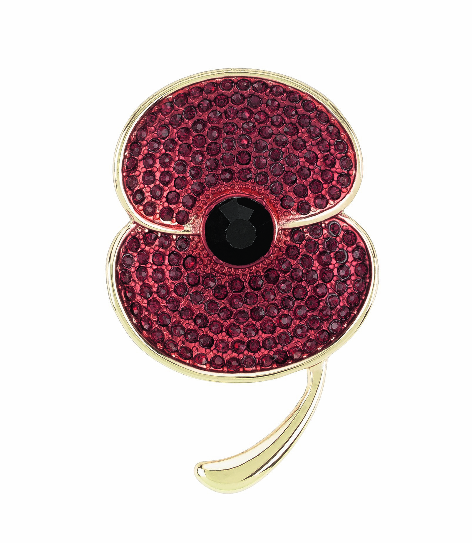 M&S COLLECTION LARGE POPPY BROOCH  £25	SMALL POPPY BROOCH £15