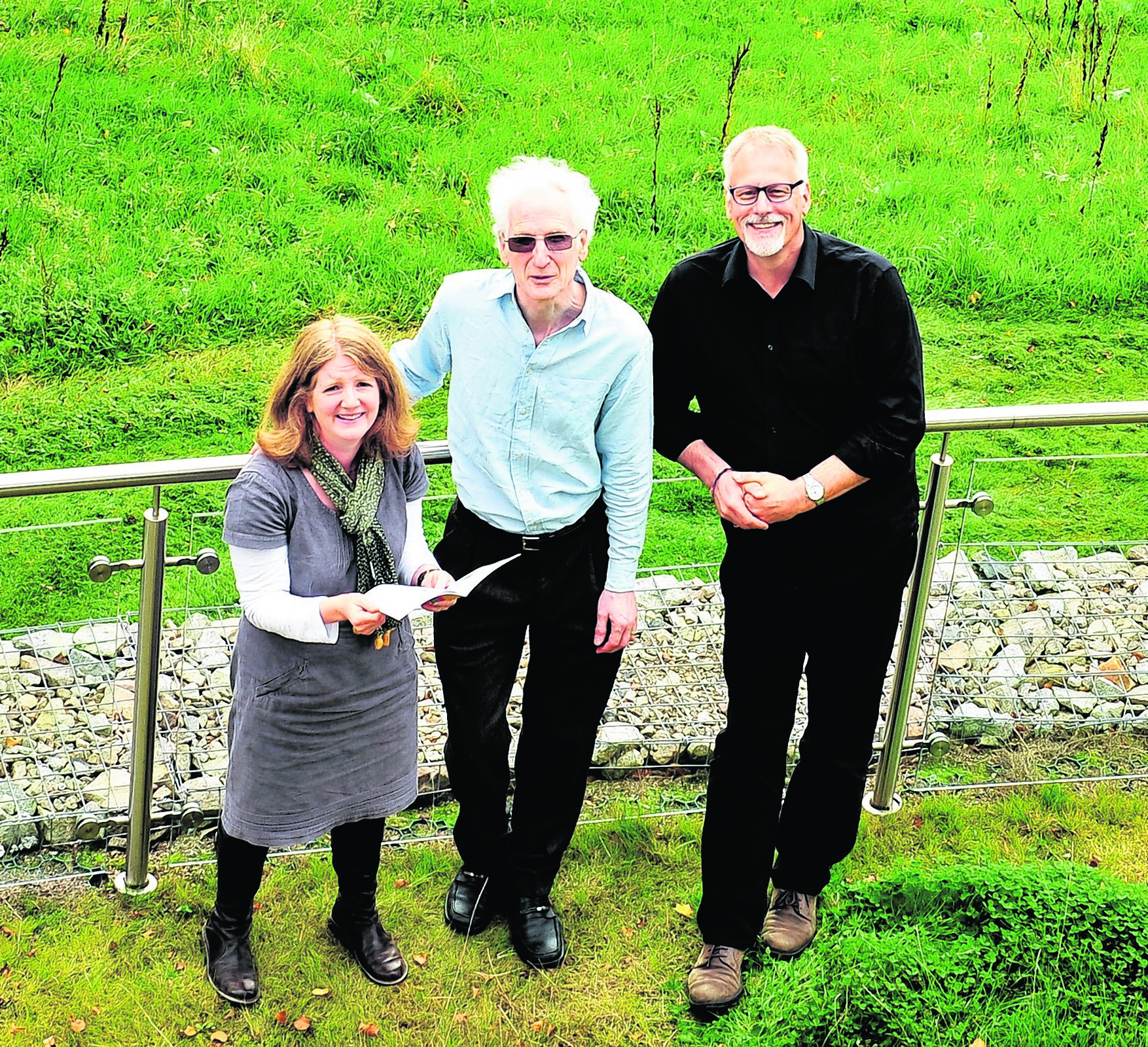 Festival founders Fiona Robertson, Mark Hope and Pete Stollery