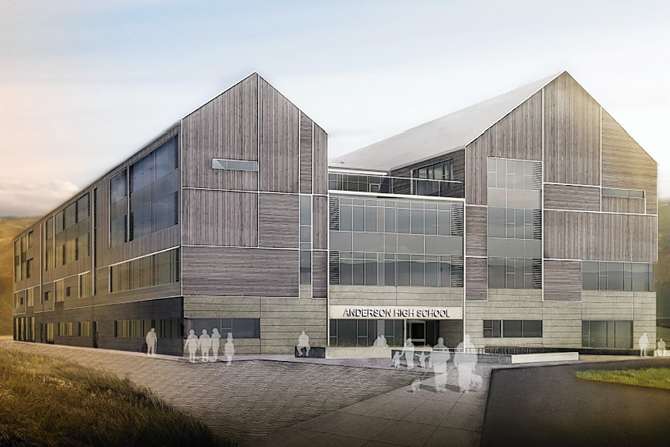 An artist's impression of the new Anderson High School