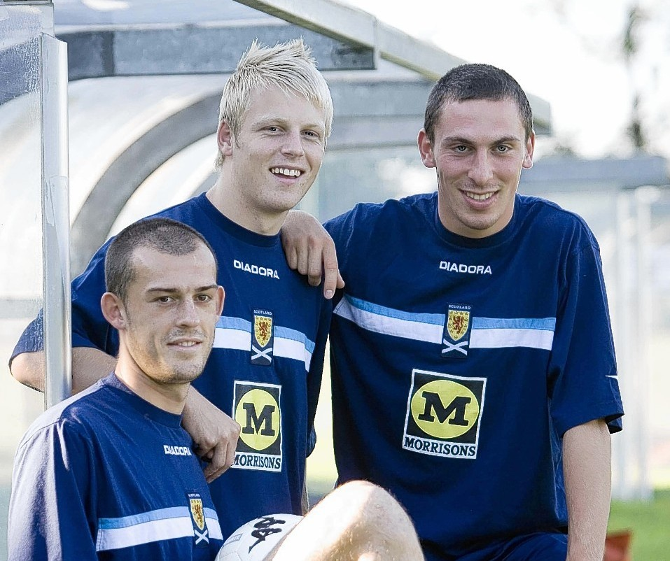 A young trio of Steven Fletcher, Steven Naismith and Scott Brown