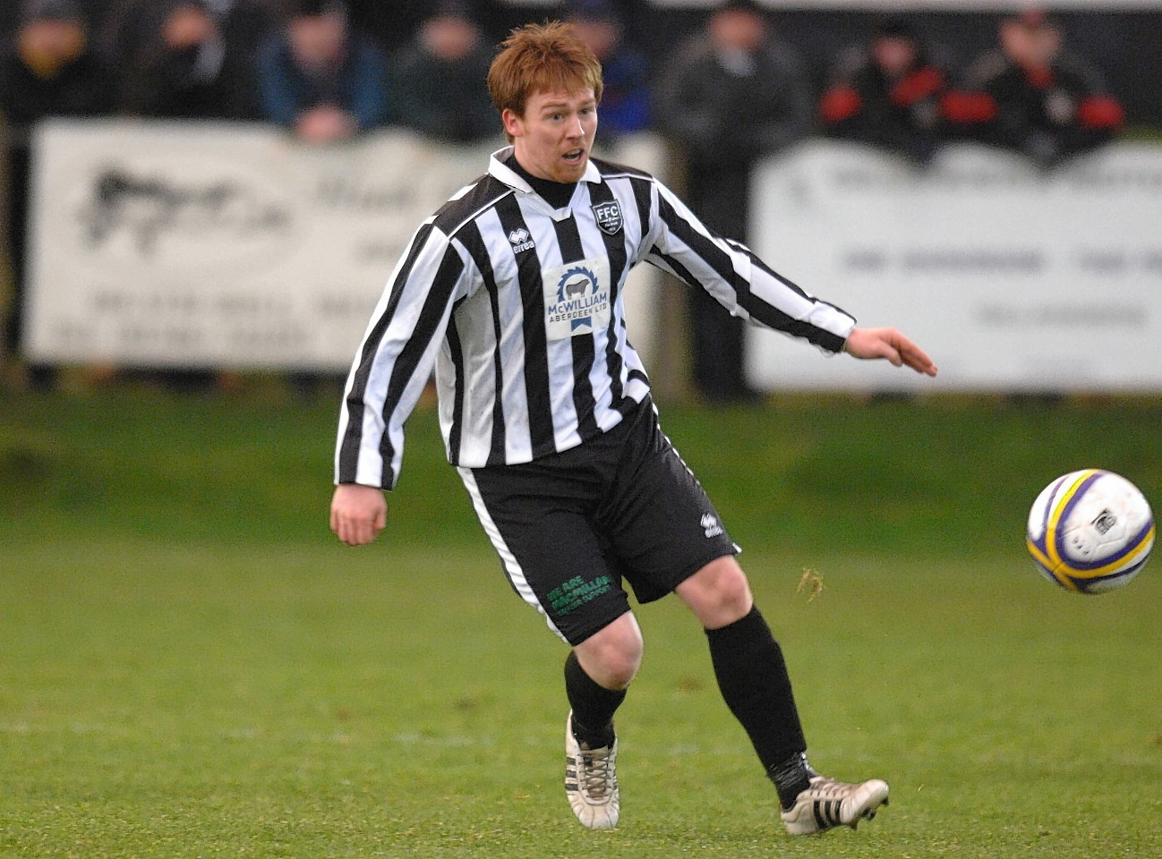 Fraserburgh player Graham Johnston