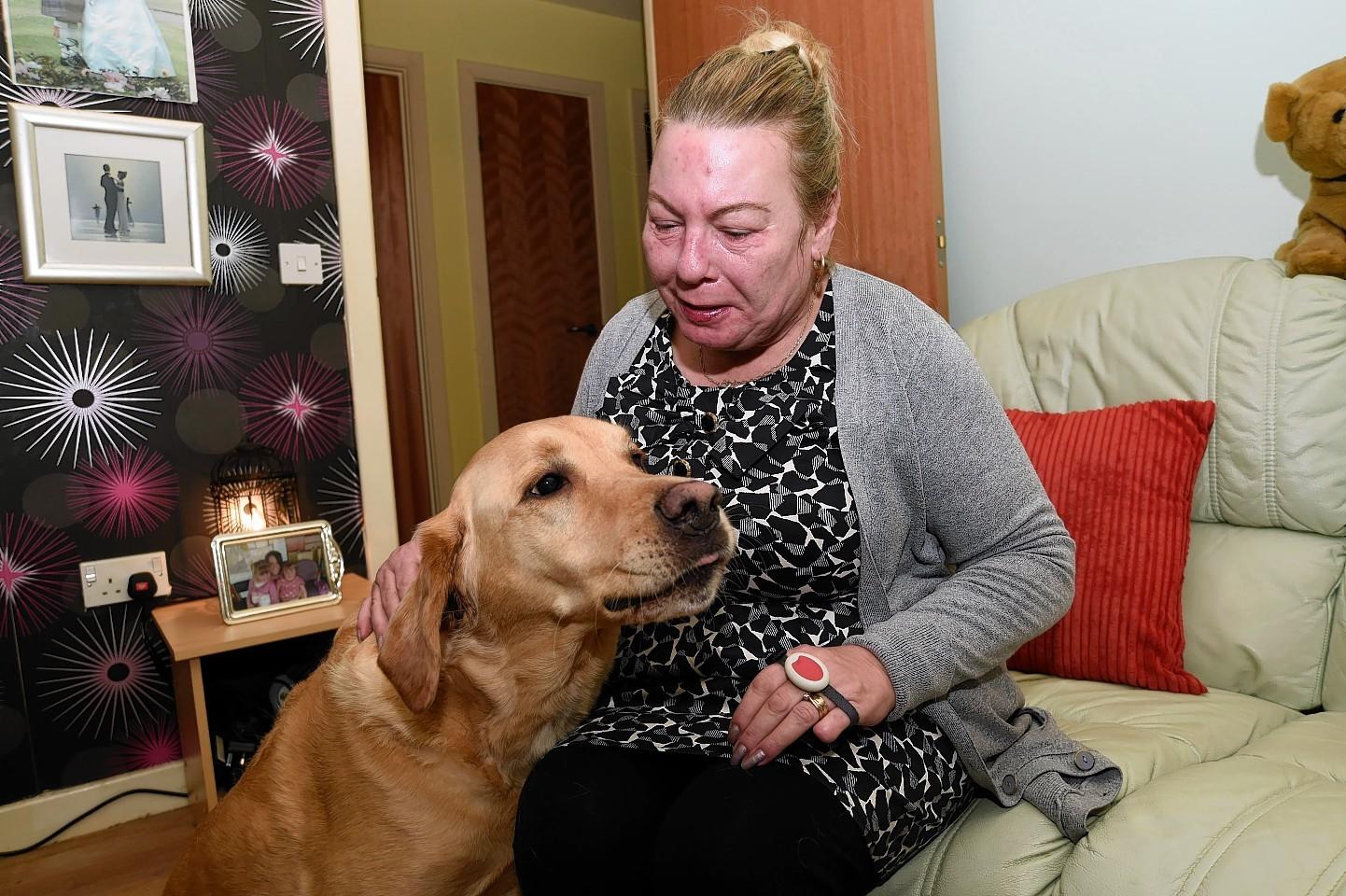 Susanne McCafferty and her dog, Garner.