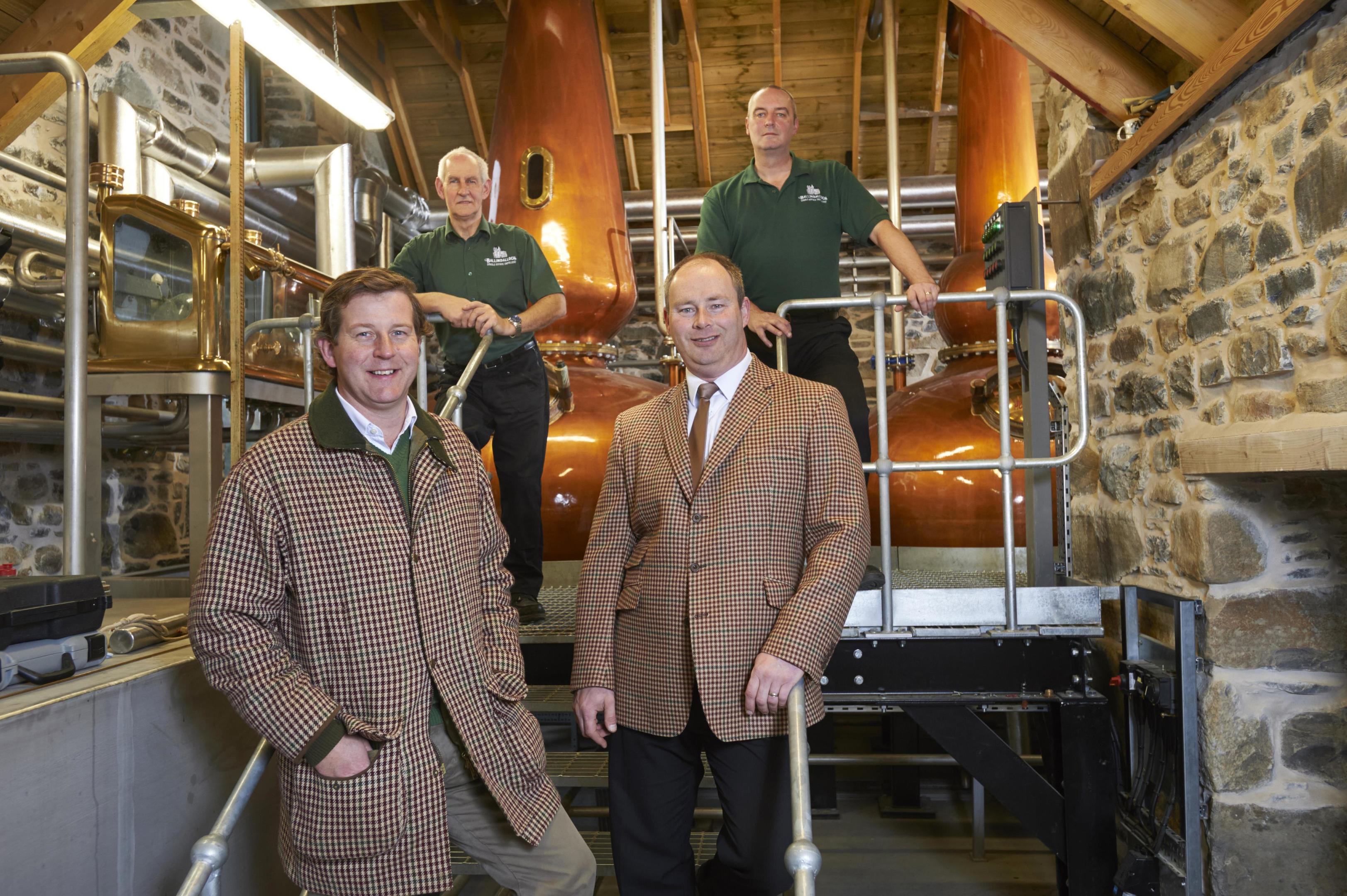 LtoR-Guy-Macpherson-Grant-Charlie-Smith-Master-Distiller-Brian-Robinson-and-Colin-Poppy-Distillery-Assistant.jpg