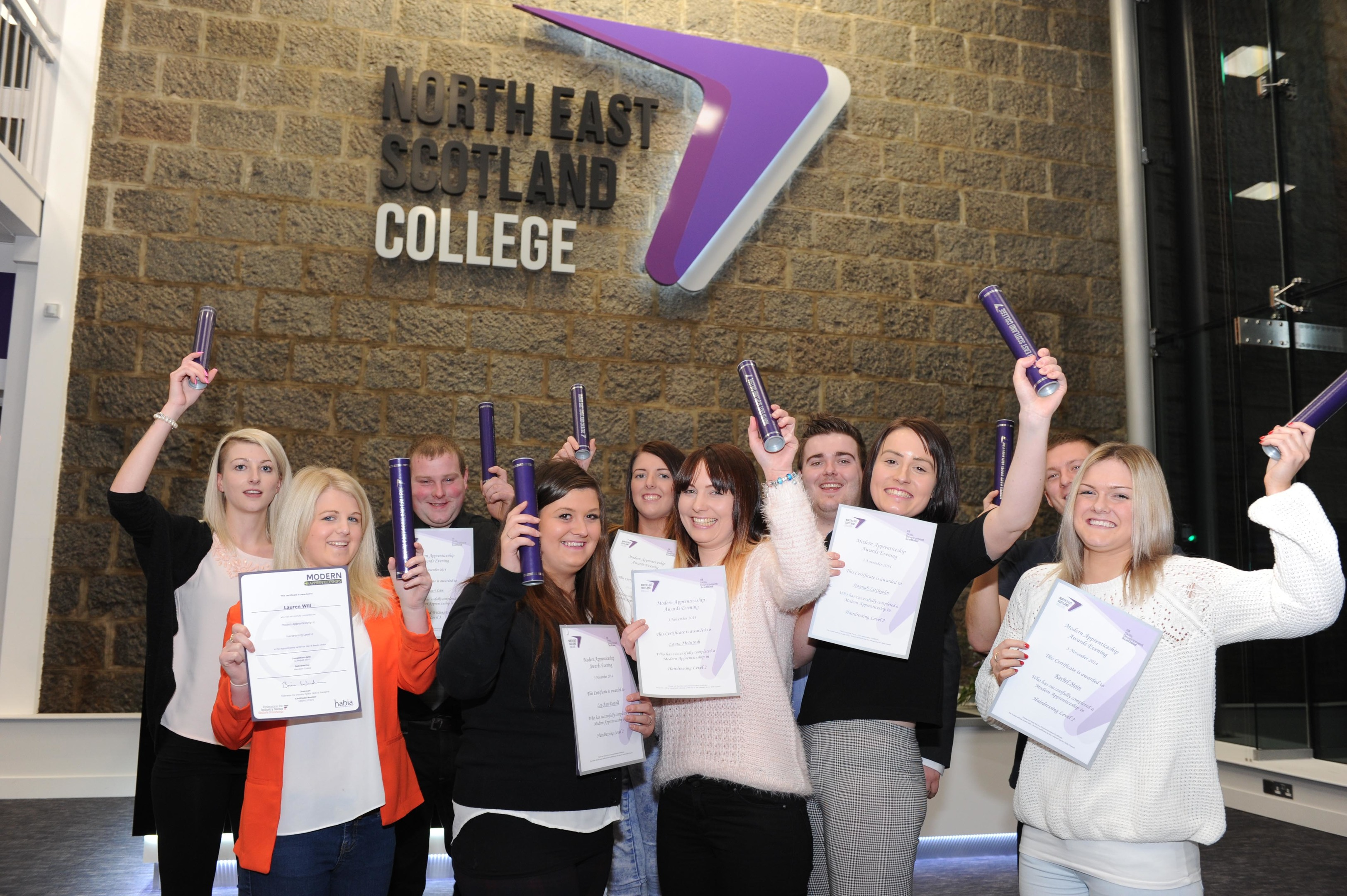 Apprentices celebrate north east scotland college for Aberdeen college beauty salon