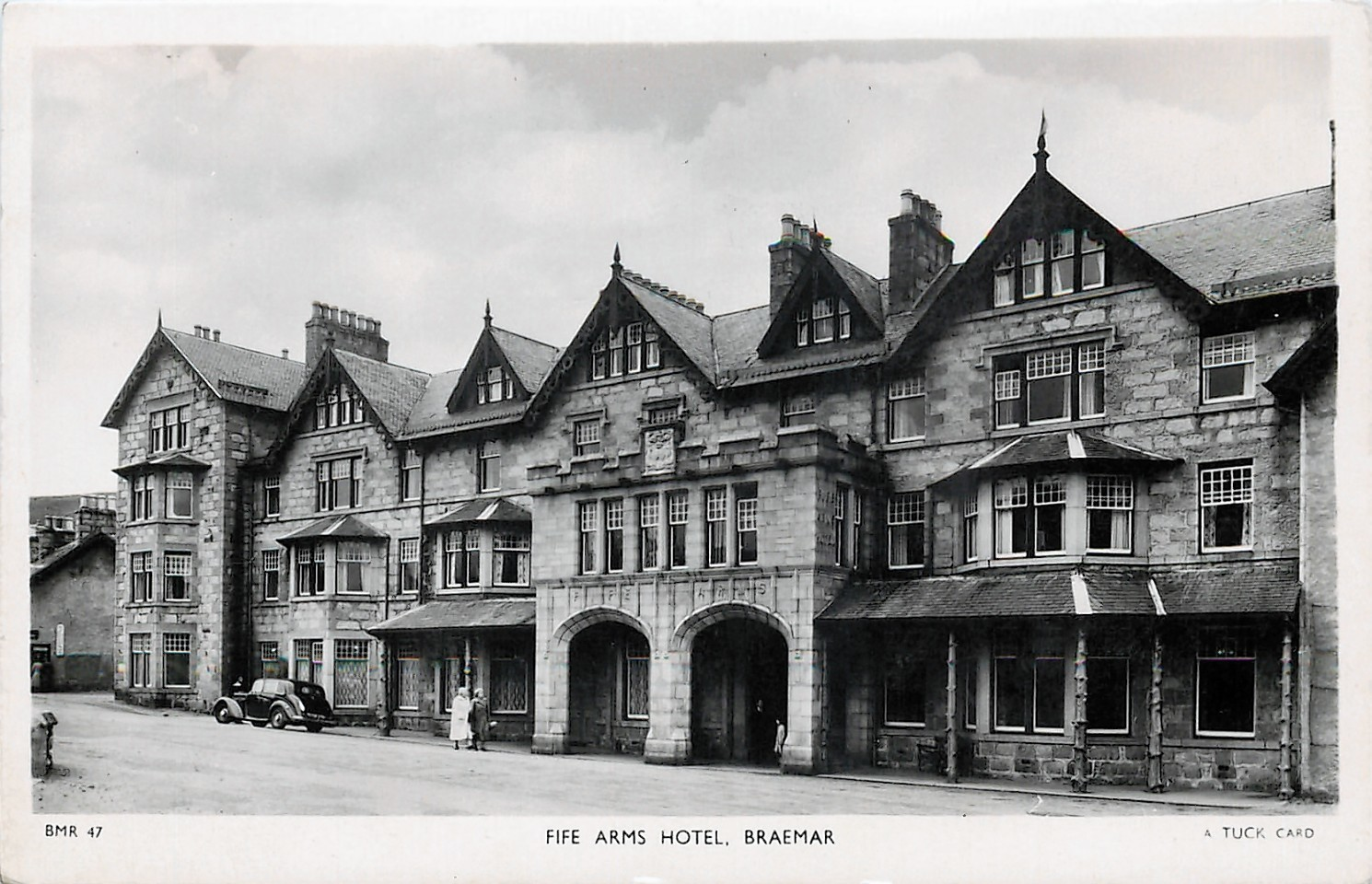 An old picture of Braemar's Fife Arms, which will close for refurbishment in January