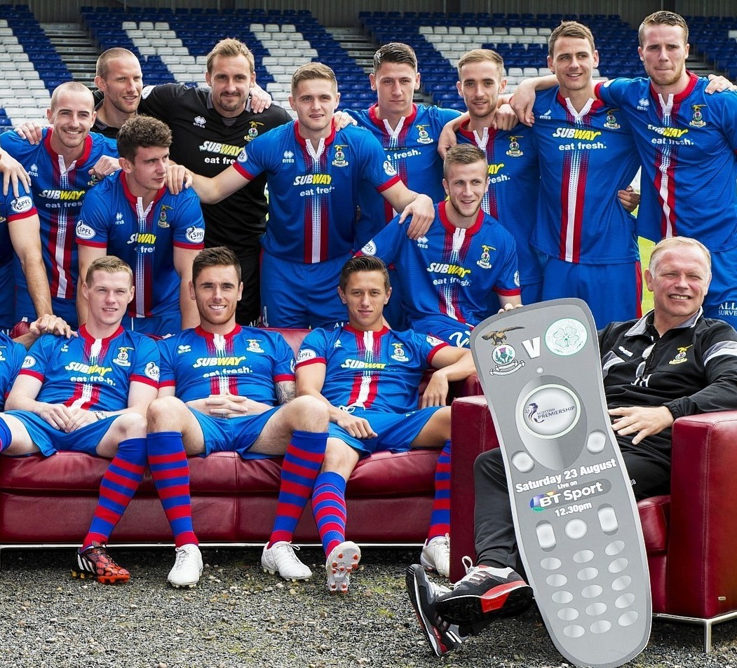 Caley Thistle are one big happy family