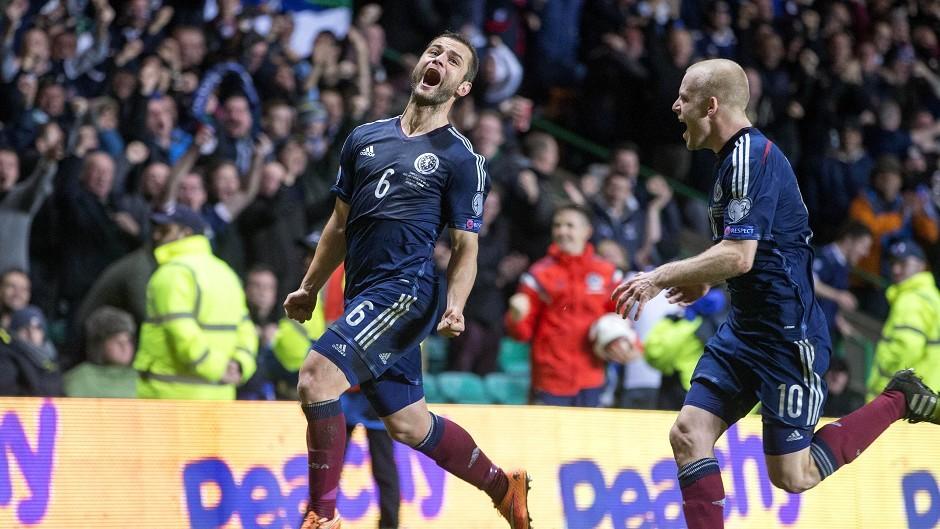 Shaun Maloney celebrates scoring Scotland's winner against the Republic of Ireland at Hampden