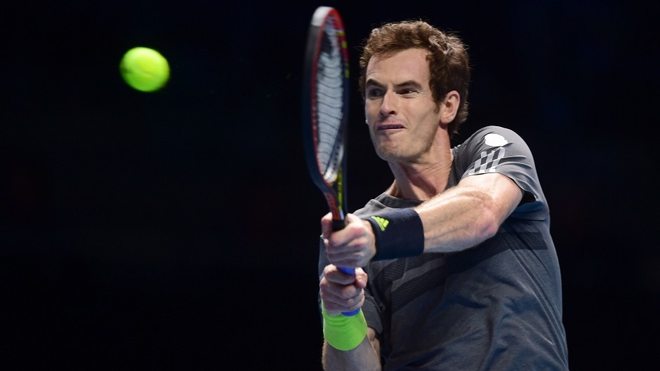 Andy Murray was a 6-3 7-5 winner against Milos Raonic