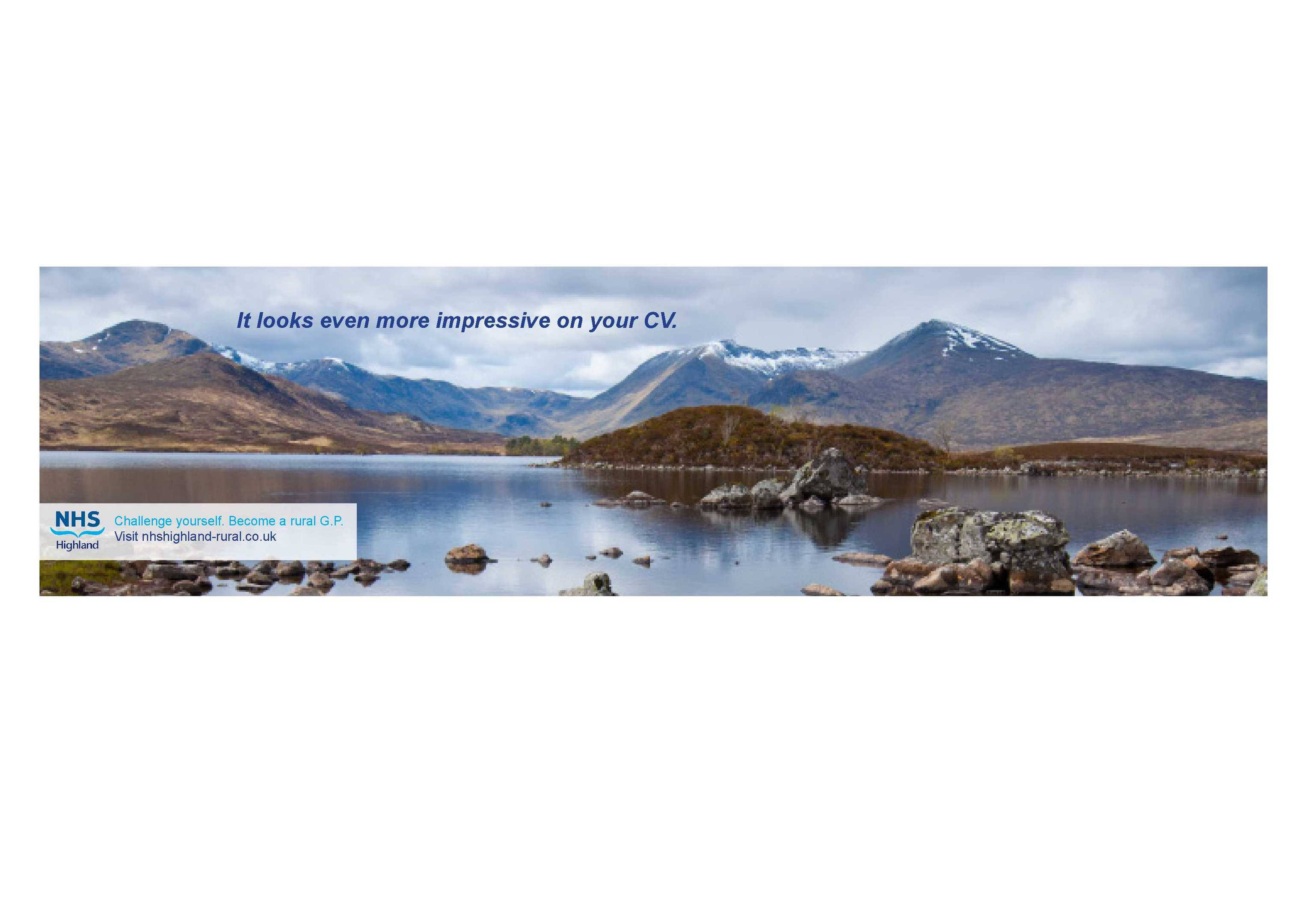 Adverts promote the outdoor benefits of the Highlands to GPs