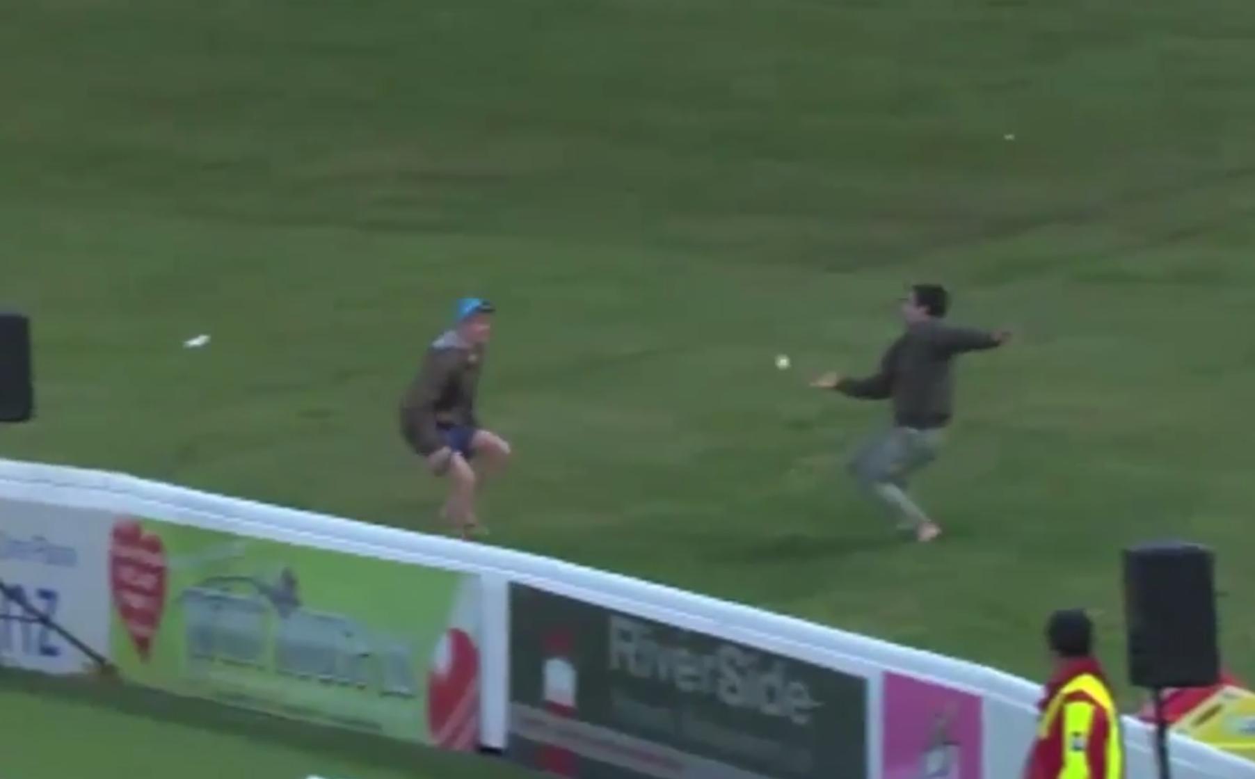 Amazing crowd cricket catch