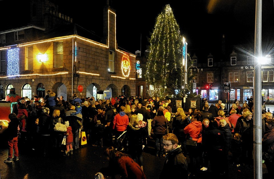 Crowds of people turned out for Stonehaven Christmas light switch-on last year