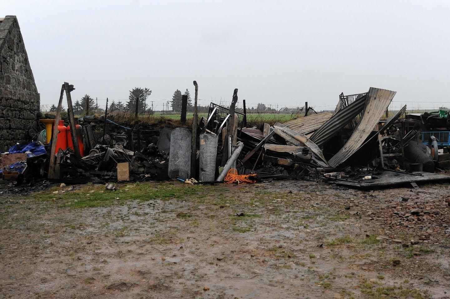 Strichen farm blaze