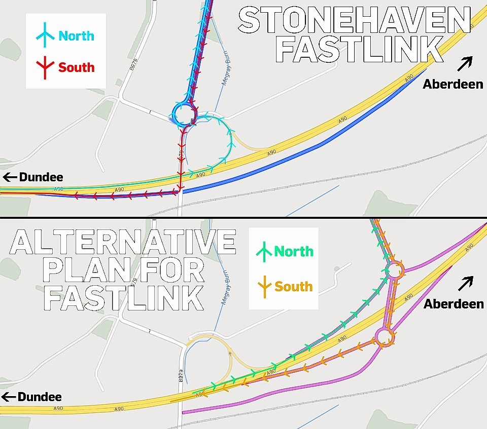 Proposed AWPR junction at Stonehaven.