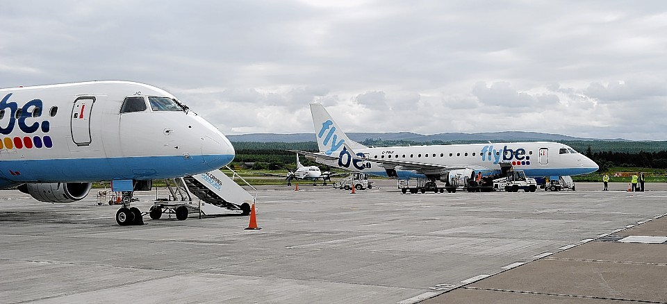 Flybe at Inverness Airport