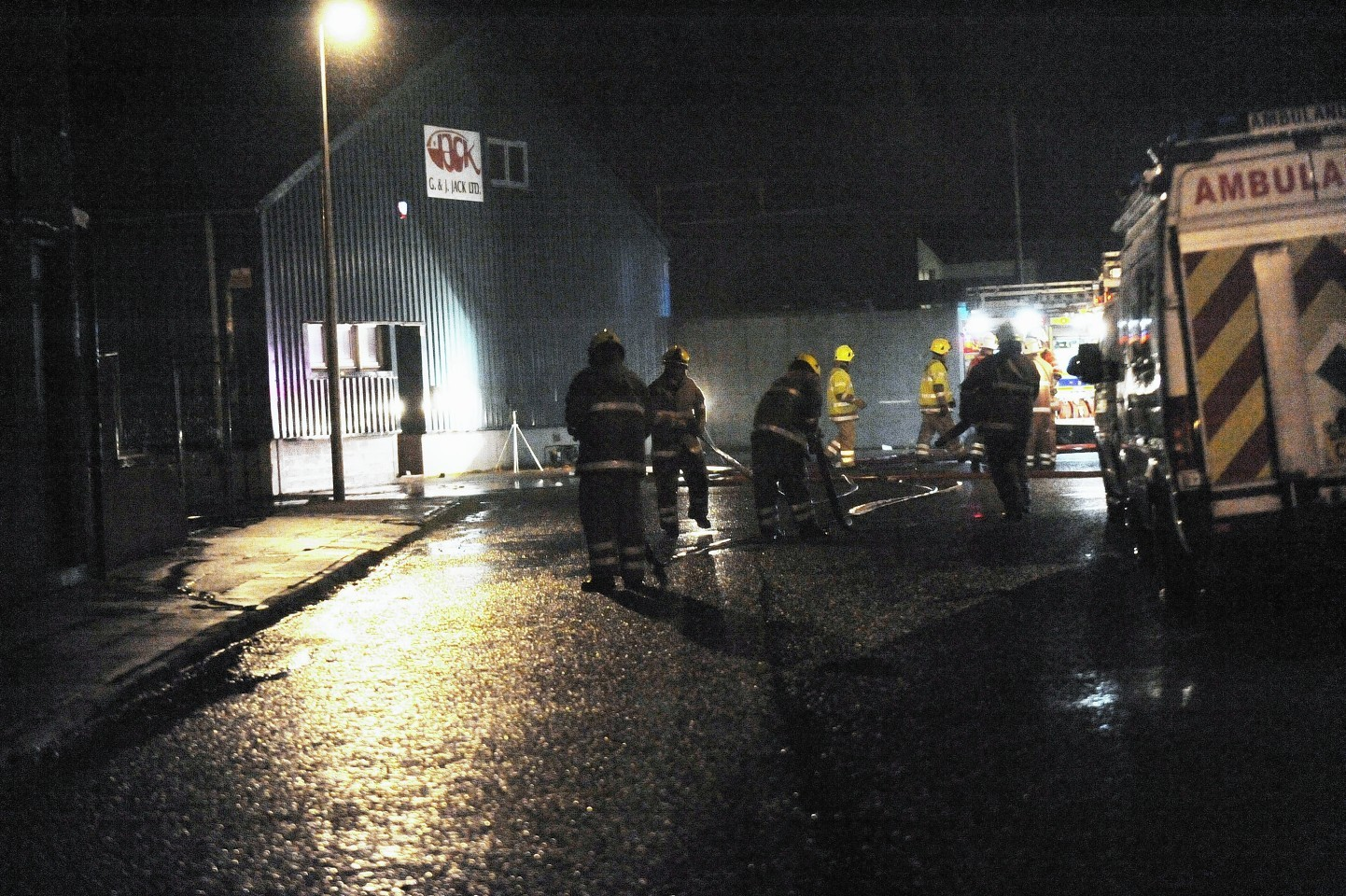 Fire services are now preparing to leave the scene following a blaze at the former G&J Jack Ltd