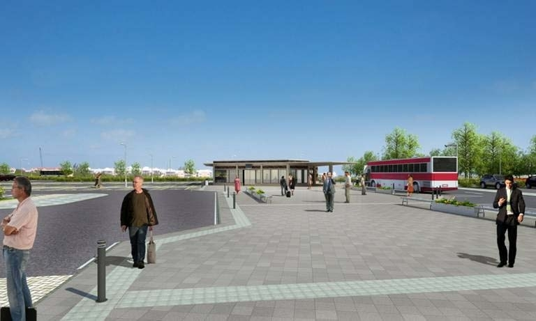 An artist impression for the park-and-ride planned for north of Portlethen